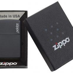ZIPPO Regular Black Matte With Zippo Logo