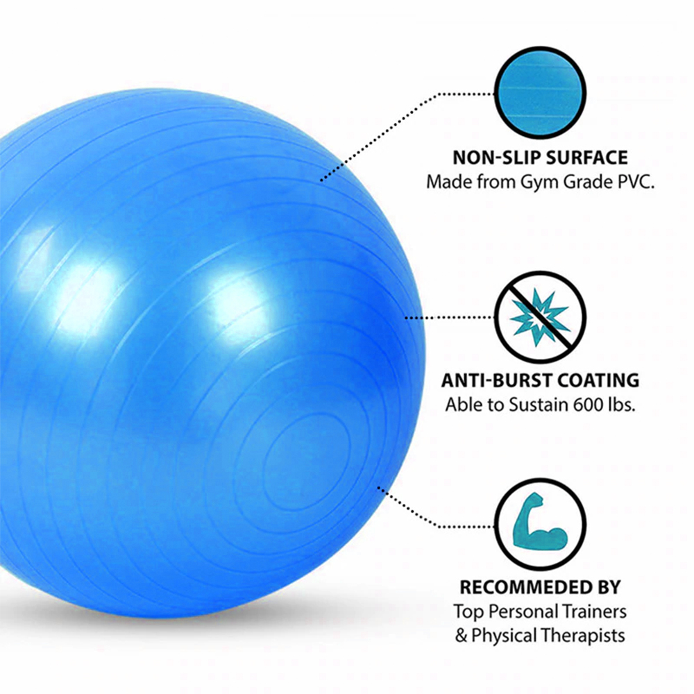TBF Yoga Gym Ball, bola, pam, exercise, air ball, , flexible, udara, foldable, lipat, outdoor, indoor, home