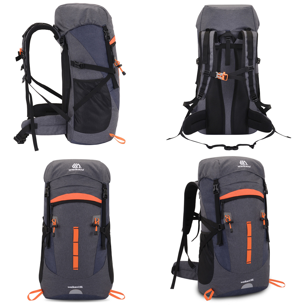TBF Weikani 50L Outdoor Backpack, open lid, outdoor, travel, backpack, solo, hiking, rucksack, bagpack, bag, beg, case