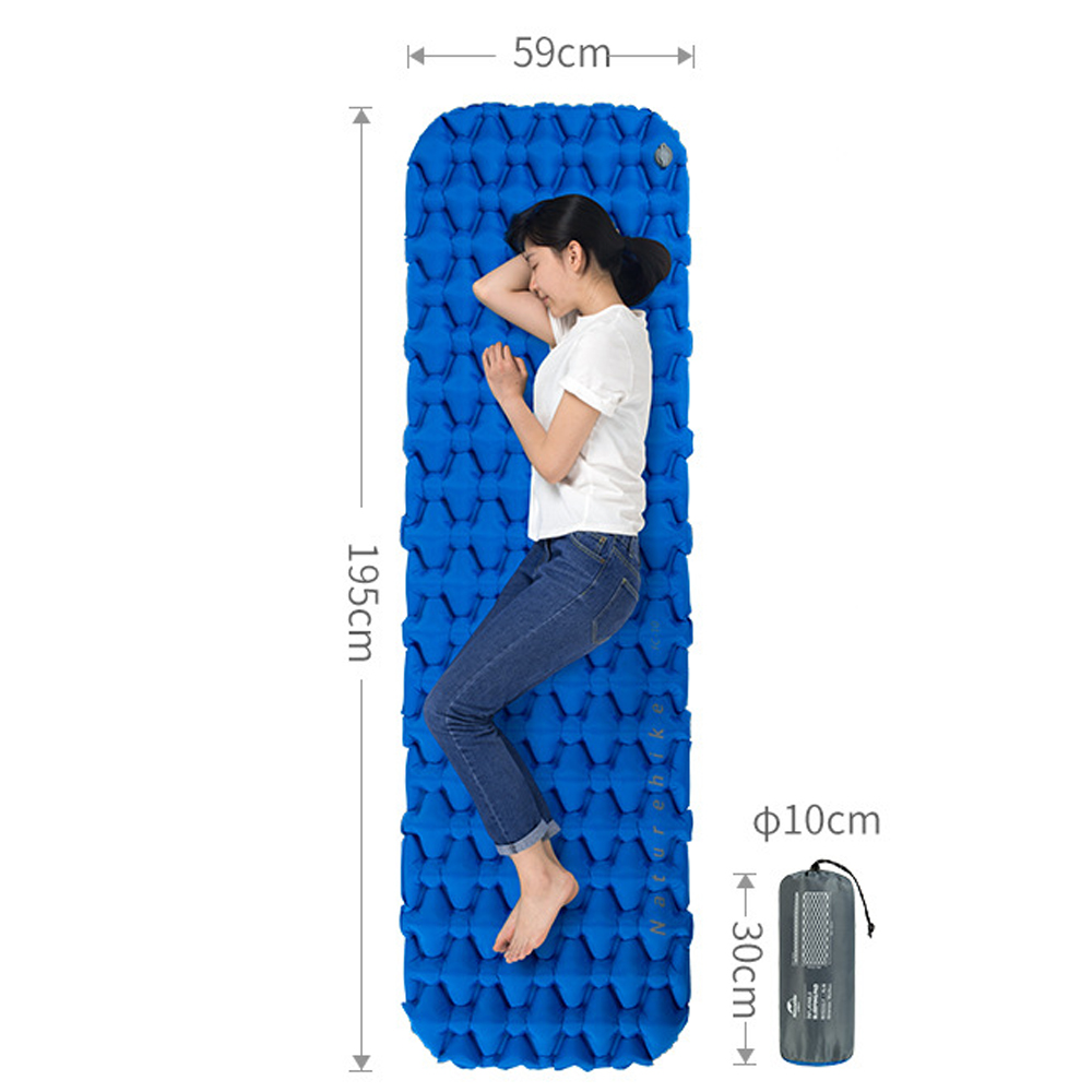 Naturehike Inflatable Sleeping Pad, two layer, pillow, bag, tent, hiking, outdoor