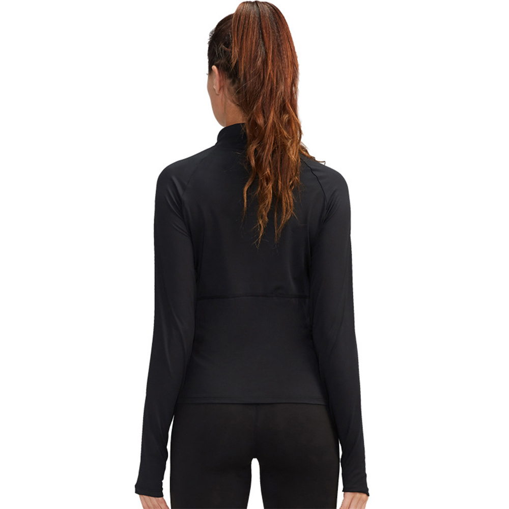 TBF Female High Neck Long Sleeve, inner, outer, women, active, sports, outdoor, indoor, running, cycling, marathon, black, wine red