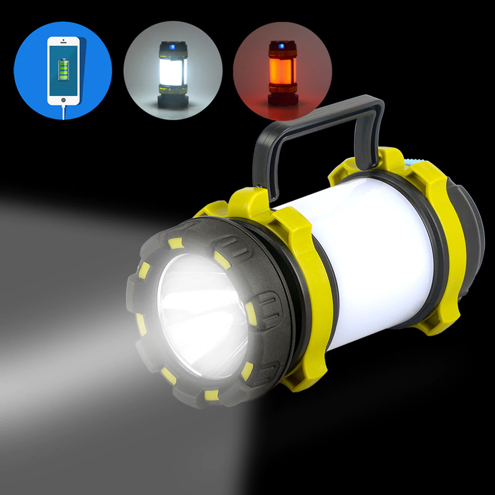 TBF Multifunction Outdoor Lantern with USB Charger, light, travel, camping, hiking, led, spotlight, light with handle, study light, darkness, emergency, phone, smartphone, charging, powerbank, flashlight, mode, gua, lampu