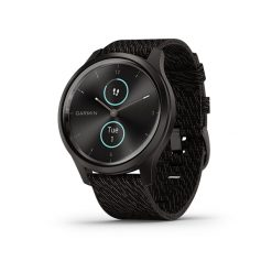 GARMIN Vívomove 33s Hybrid Smartwatch with Hidden Touchscreen Display Black