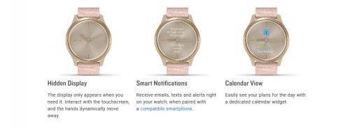 GARMIN Vívomove Style Hybrid Smartwatch Specs 6