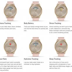 GARMIN Vívomove Style Hybrid Smartwatch Specs 7