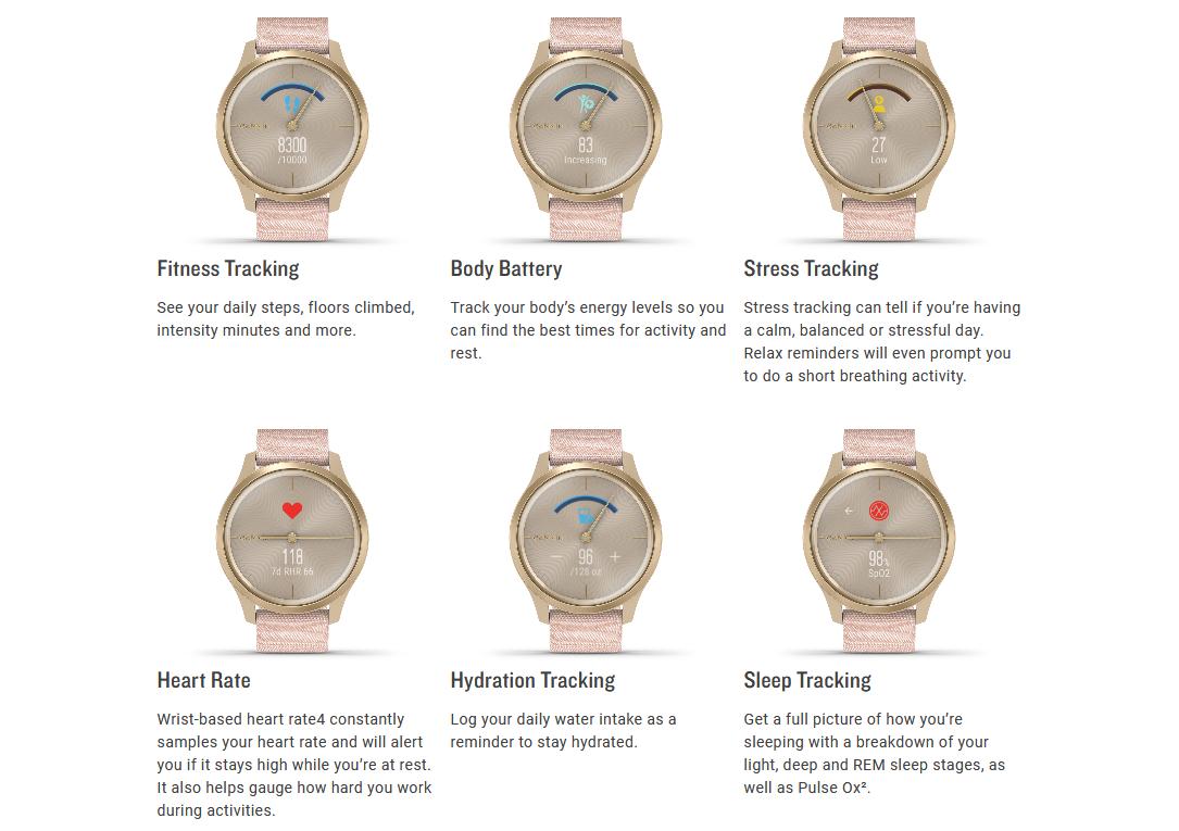 GARMIN Vívomove Style Hybrid Smartwatch, jam tangan, ladies, gentleman, smartphone, GPS, connect