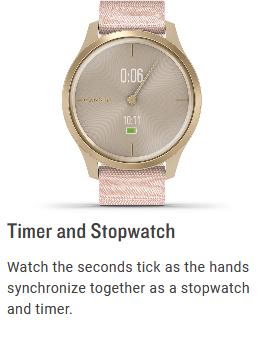 GARMIN Vívomove Style Hybrid Smartwatch Specs 8