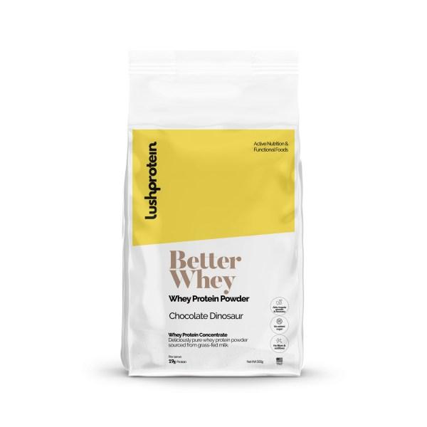 LUSHPROTEIN Better Whey Protein Powder, protein, running, flavor, not sweet, energy boost, breakfast