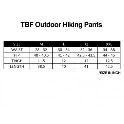 Sizing TBF Hiking Pants