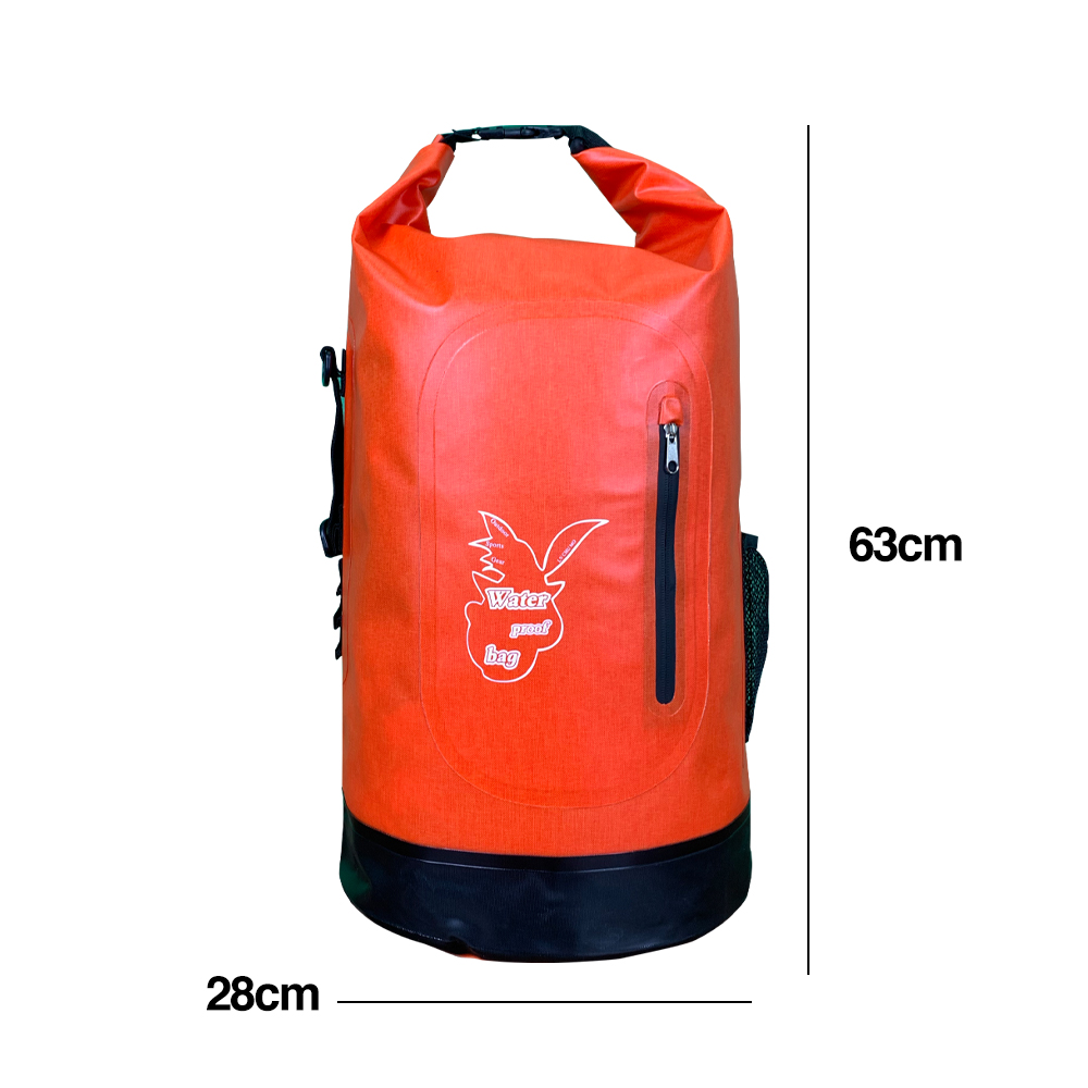 TBF Outdoor Waterproof Dry Backpack 30L, 30 liter, water resistance, backpack, camping bag, duffel, punching, beach bag, banana