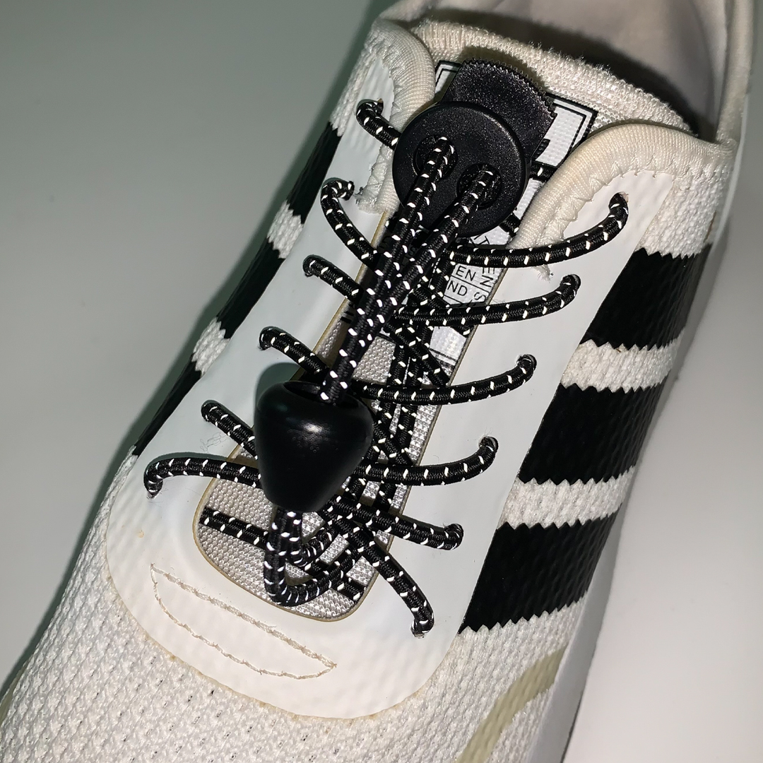 TBF Reflective Sports Shoe Lock Lace, children shoe lace, easy, not tie, save time, save energy, tali kasut hiking