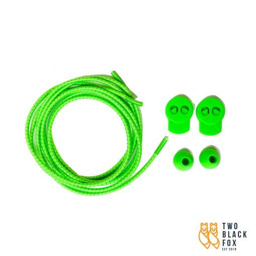 TBF Reflective Sports Shoe Lock Lace Green