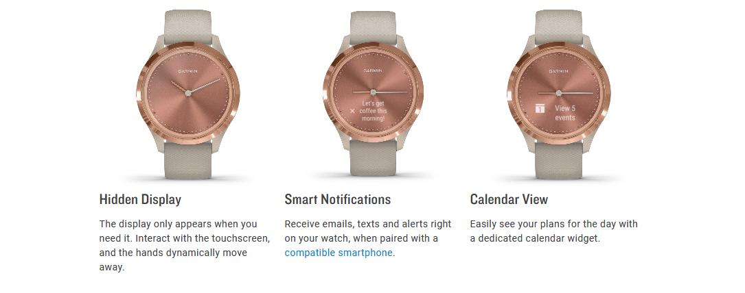 GARMIN Vívomove 3/3s Hybrid Smartwatch, stylish, design, fashion, jam tangan