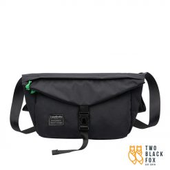 multi pocket travel sling bag black