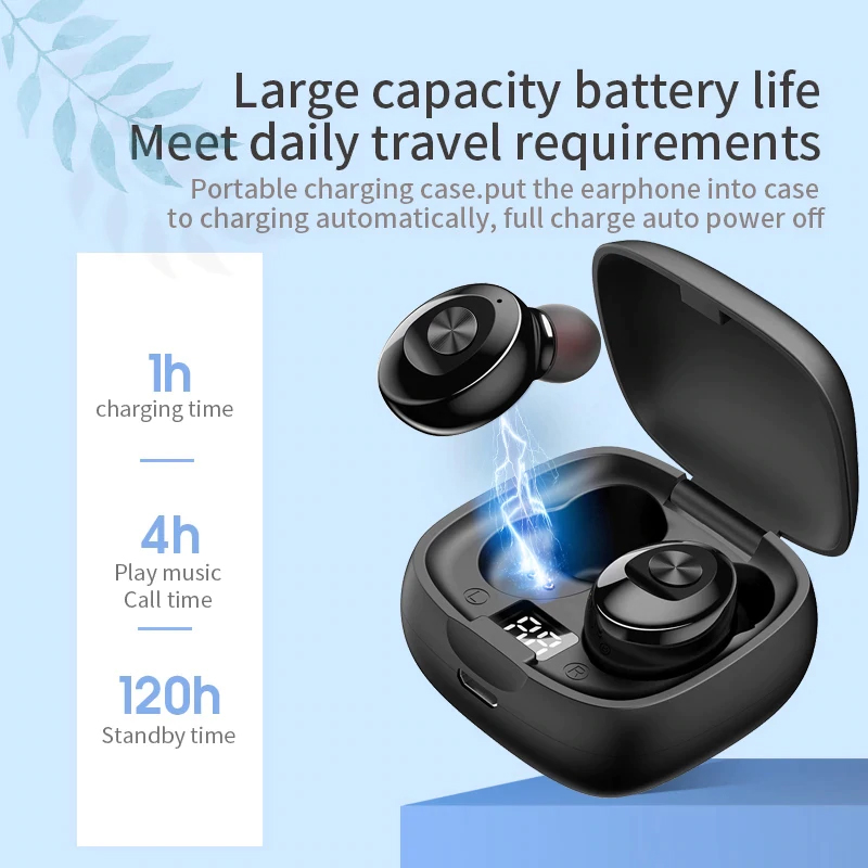 TBF GXB Bluetooth Wireless Earphone, earbud, airpod, earpod, wifi, call, one touch, led display
