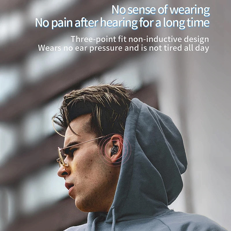 TBF GXB Bluetooth Wireless Earphone, earbud, airpod, earpod, wifi, call, one touch, led display
