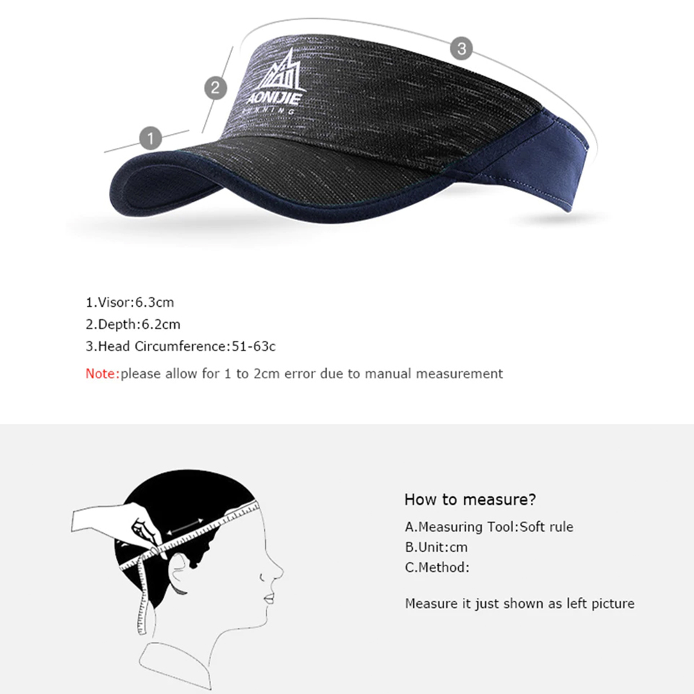 Aonijie Outdoor Visor Cap, hat, sun, cover, shield, band. sweat, running, cycling, marathon, breathable, cooling