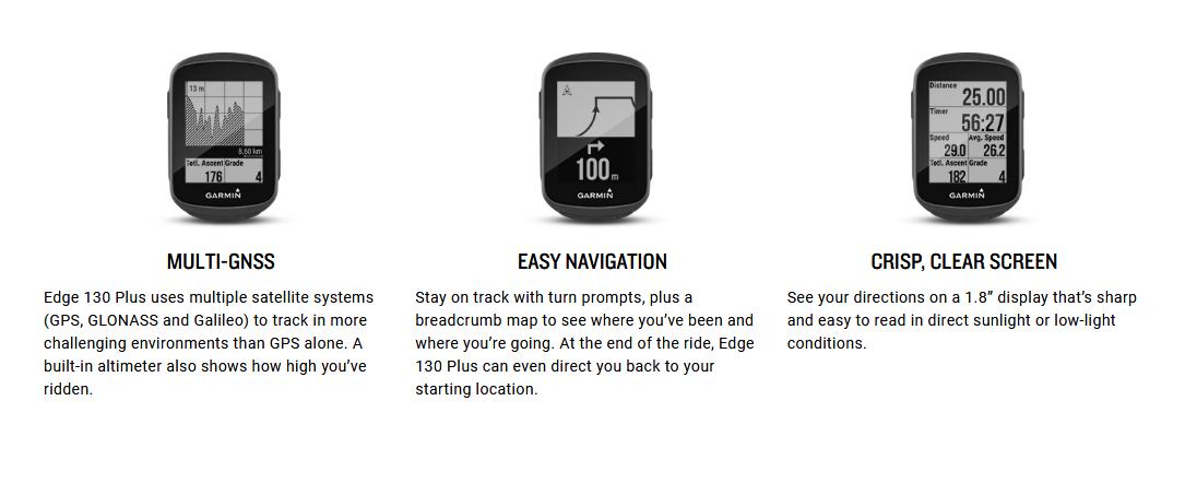 GARMIN Edge 130 Plus GPS Bike Computer, cycling, running, waze, gps, direction, climbing, hiking, camping, device, wireless, bluetooth