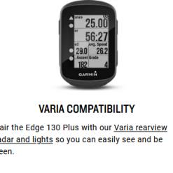 GARMIN Edge 130 Plus GPS Bike Computer Specs 8