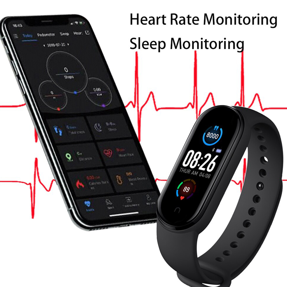 M5X Smart Watch Bracelet, tracker, heart rate, monitor, smartphone, fitness, gym, jam tangan, bluetooth, GPS, wifi treadmill, call, message, alrm, sleep, camera
