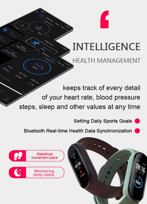 M5X Smart Watch Bracelet 4