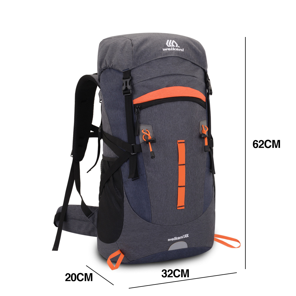 TBF Weikani 50L Outdoor Backpack, open lid, outdoor, travel, backpack, solo, hiking