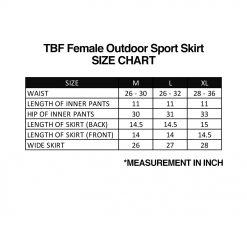TBF Female Outdoor Sport Skirt, skort, short pant, double layer, secure, pendek, seluar, inner, pakaian dalam