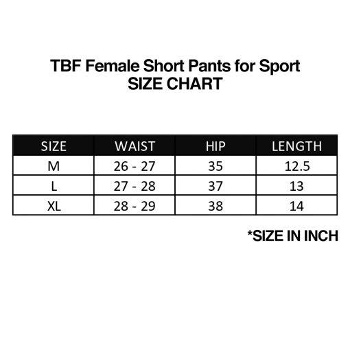 TBF Female Short Pants for Sport 6