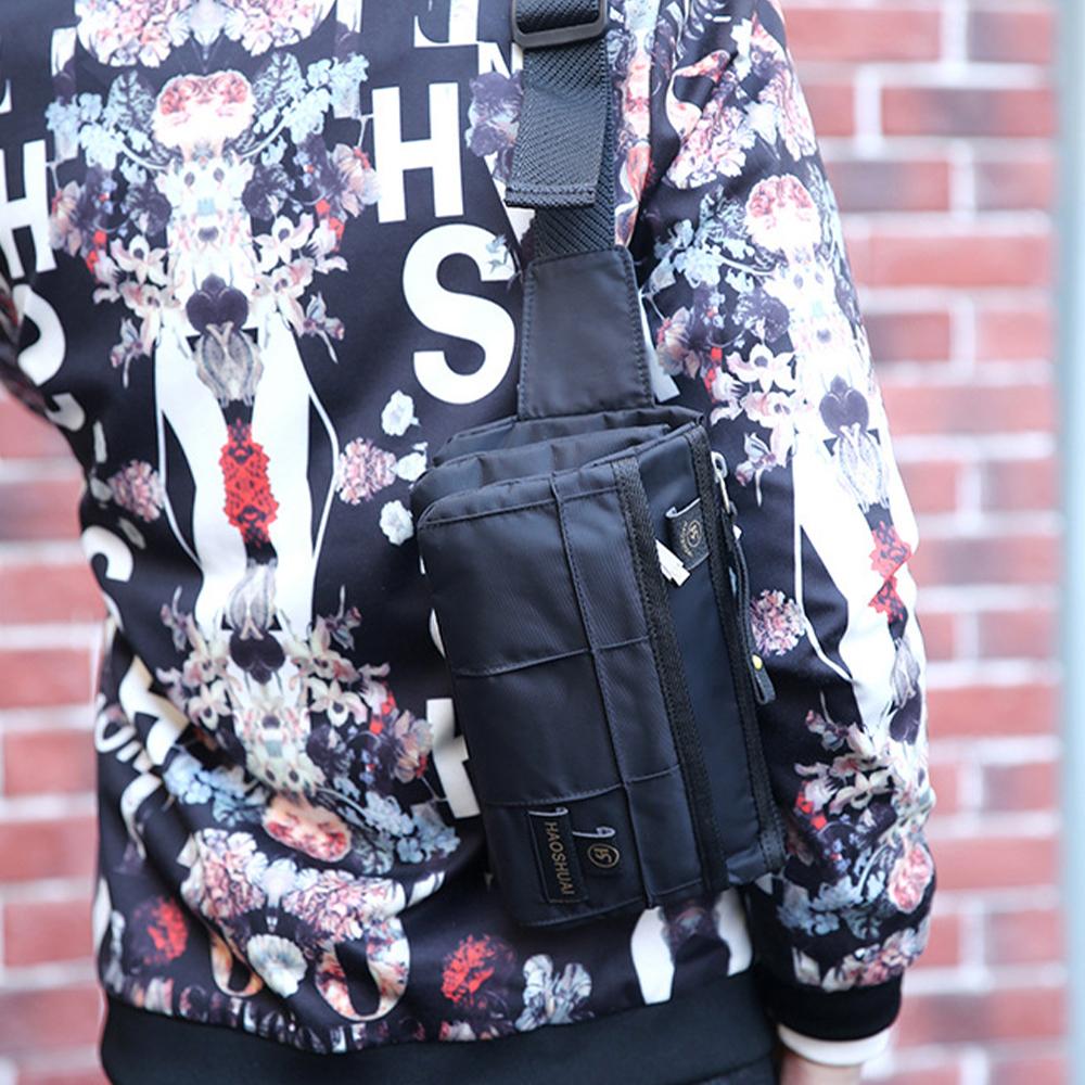TBF Multi-Pocket Anti-Theft Sling Bag, shoulder bag, waist, chest, messenger, pouch, holder, pack, fit, unisex, beg, beg tangan, handbag, adjustable strap, buckle