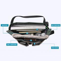 TBF Multi pocket Travel Sling Bag inside