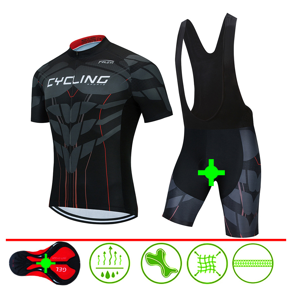 TBF Outdoor Cycling Shirt Set, shirt, cycling, running, marathon, breathable, wicking, gel pad, suit, bath, jumpsuit, pant, strap singlet