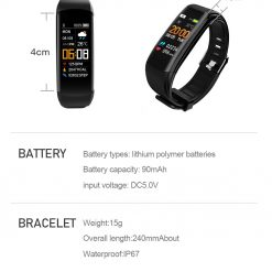 YoMi Smart Watch Bracelet with Bluetooth SIZE e1599710364177