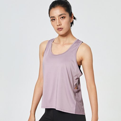 Female Loose Fit Quick Dry Tank Top Purple