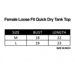 Female Loose Fit Quick Dry Tank Top SZ