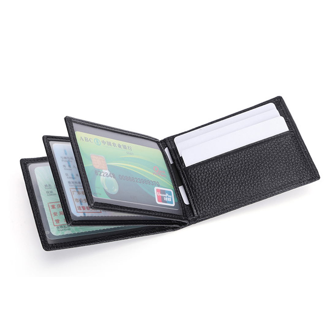 Leather Wallet with Multi-pocket, water-resistant, anti-tear, lightweight, foldable, leather, fashion, multipocket