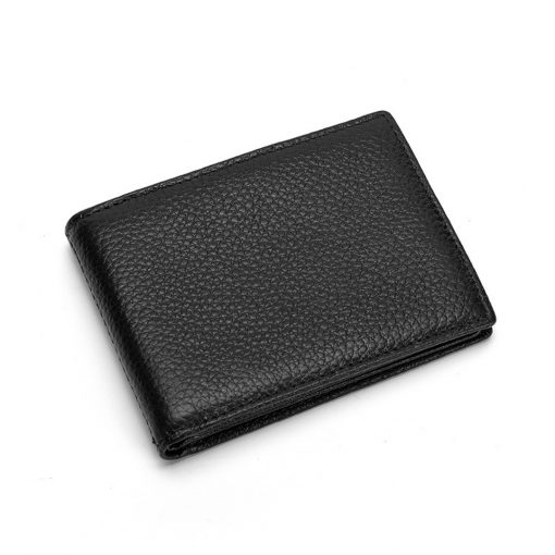 Leather Wallet with Multipocket Black