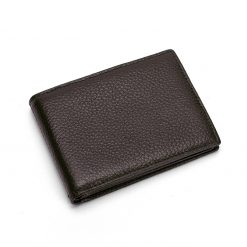 Leather Wallet with Multipocket Dark Brown