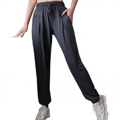 Quikcomfy Female Fitness Pants Dark Grey