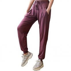 Quikcomfy Female Fitness Pants Dark Purple