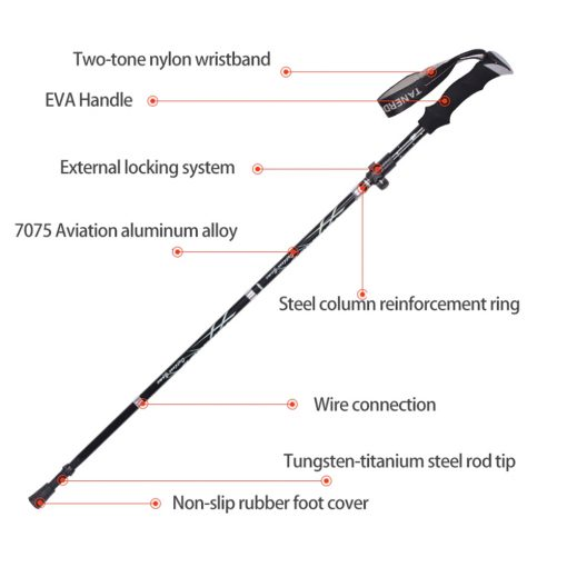 TBF 3 Section Foldable Hiking Stick 3