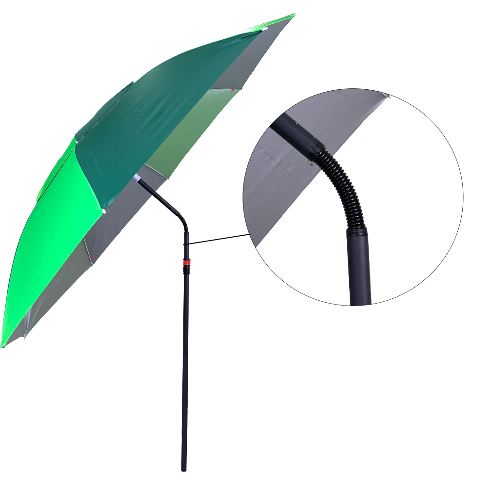 TBF Double Layer Outdoor Umbrella With Stand, payung, mancing, fishing, upside down, bent, metal, spring, length, height