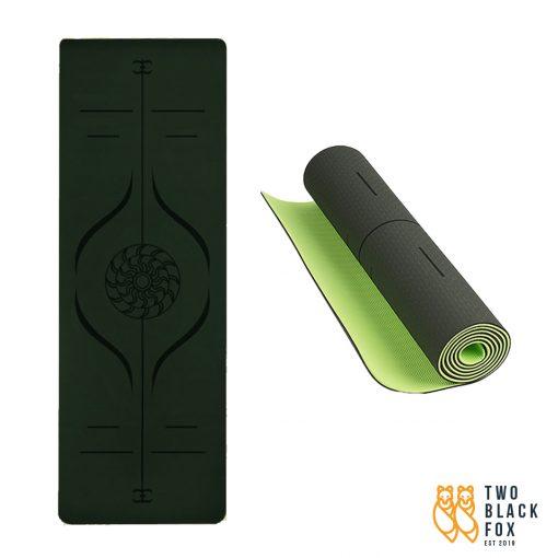 TBF Exercise Yoga Mat Dark Green 1