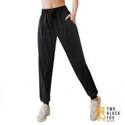 TBF Female Harem Jogging Pants Black