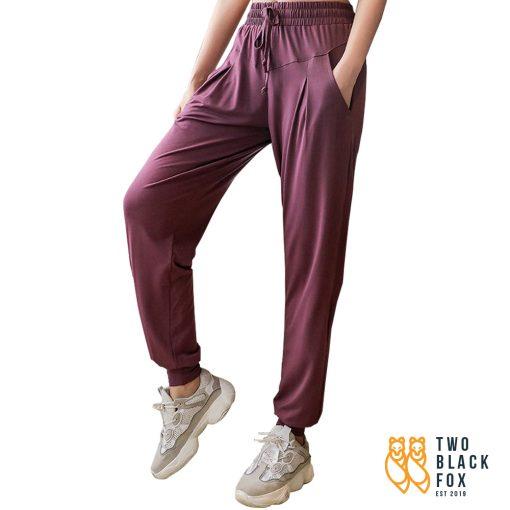 TBF Female Harem Jogging Pants Dark Purple