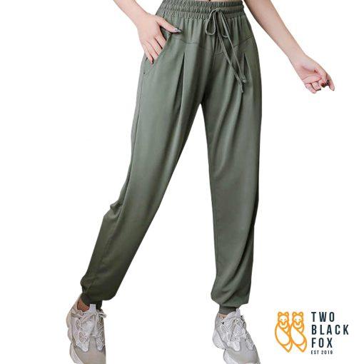 TBF Female Harem Jogging Pants Green