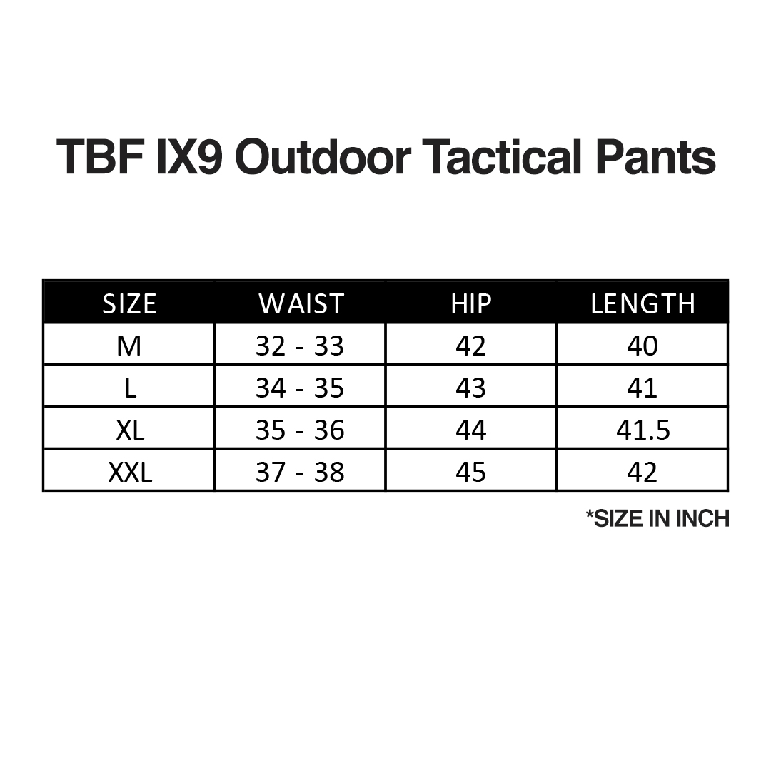 TBF IX9 Outdoor Tactical Pants, outdoor pants, tactical pants, multi-pocket pants, lightweight, durable, wear-resistant, fashionable