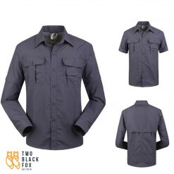 TBF Mens Quick Dry Trekking Shirt Dark Grey