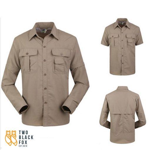 TBF Mens Quick Dry Trekking Shirt Khaki