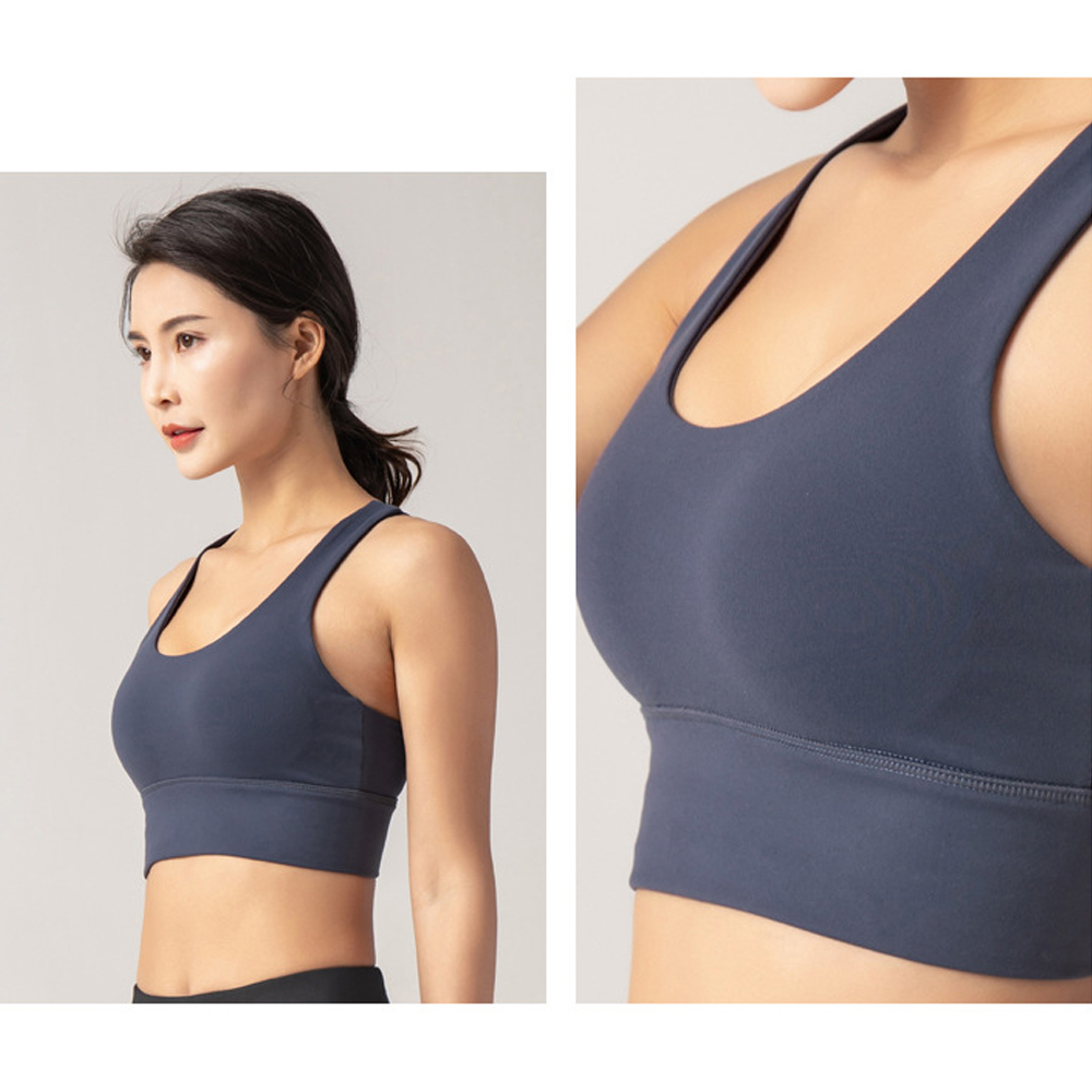 TBF Outdoor Double Crossback with Push up Sport Bra 1