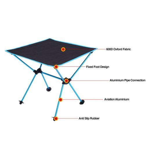 TBF Outdoor Foldable Camping Table 7 1